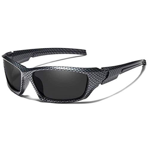 Kingseven Sport TR90 Carbon Sonnenbrille aus Kohlenstofffaser, UV400, Polarisiert, HD Vision, Outdoor, Sommer, Sport, Angeln, Trekking, Reisen, Auto