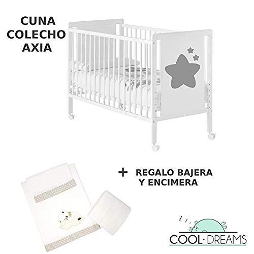 Cuna colecho de bebé Axia (5 alturas de somier) + kit colecho...