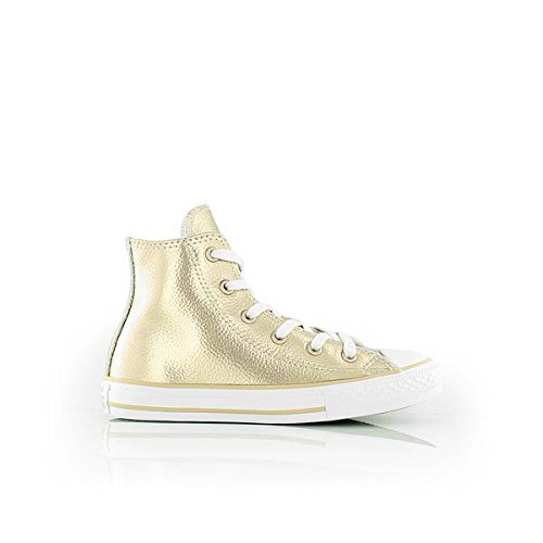 Converse Youth CTAS HI Light Gold/White/White