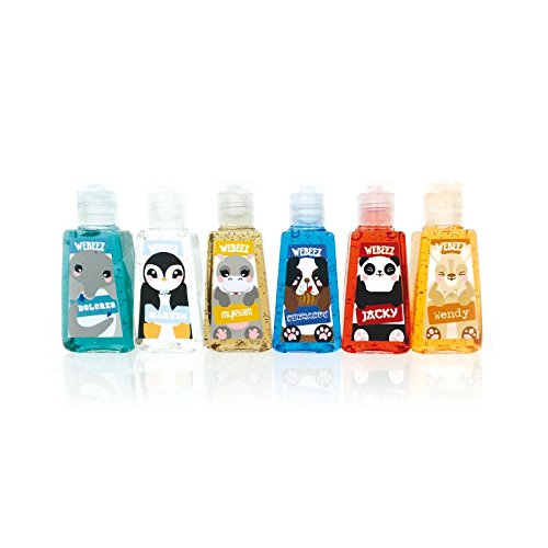 "We believe - Pack de 6 Mini Antibactériens WEBEEZ ""Collection Animaux"""