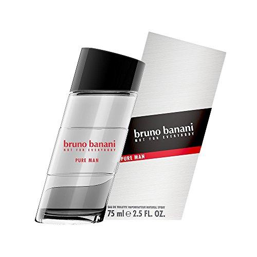 bruno banani Pure Man Eau de Toilette Natural Spray, 1er Pack (1 x 75 ml)