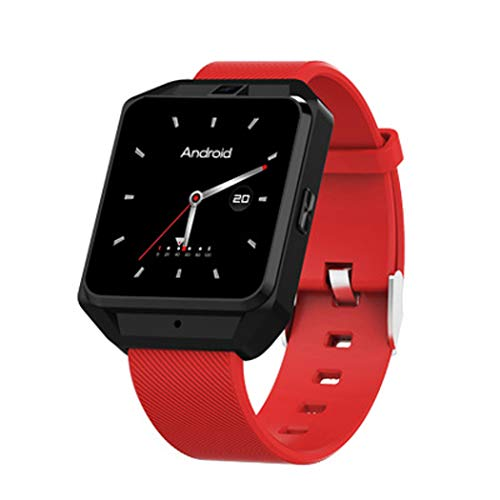 HBWJSH Smart Watch GPS-Track-Navigation WiFi Herzfrequenz-Multifunktions-Anruf-Uhr H5 (Farbe : Red)