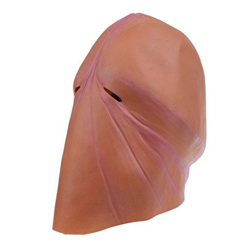 Magideal testa maschera di lattice willy pene halloween festa palcoscenico scherzo festa addio nubile - marrone