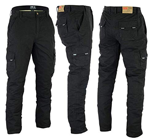 Preisvergleich Produktbild Herren Motorrad Denim Cargohose Motorrad Jeans mit Schutz Pads Biker Pants