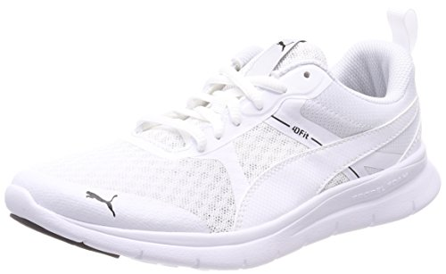 Puma Flex Essential, Zapatillas Unisex Adulto, Blanco (Puma White-Puma White 02), 42.5 EU