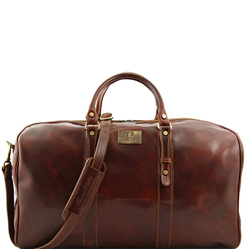Tuscany Leather Francoforte Elégant sac voyage en cuir - Grand modéle Marron