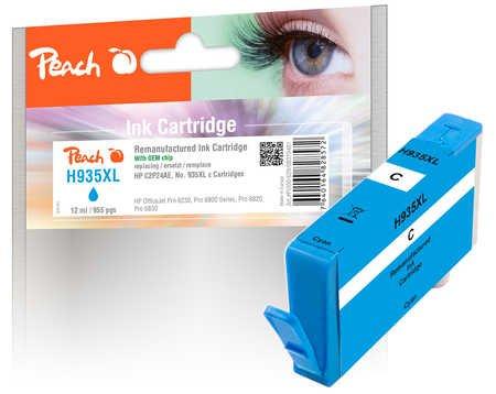 Peach Cartouche d 'encre Cyan HC Compatible avec HP no. 935X L, C2P24AE