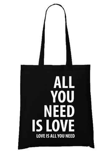 All you Need is Love Bag Black (Beatles Tasche)