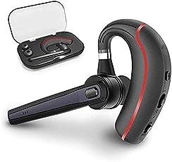 Bluetooth Headset, Wrieless OhrhörerBluetooth Kopfhörer in Ear V4.1 Freisprechen mit Mikrofon kompatibel für iPhone/Samsung/Huawei/LG/Android Handys (Rot&C)