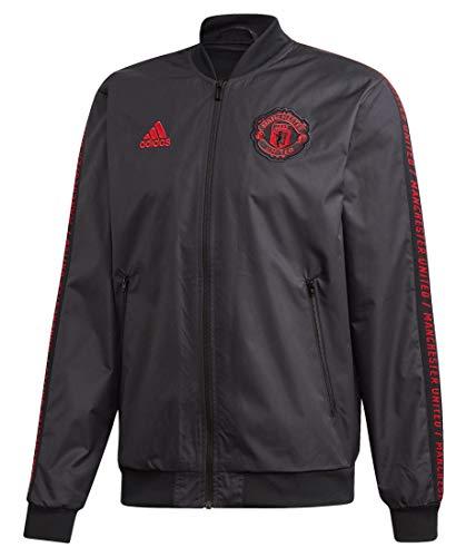 adidas Performance Herren Fußball-Jacke Manchester United Anthem schwarz/rot (701) XL
