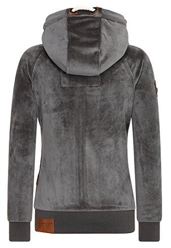 Naketano Female Zipped Jacket Brazzo Mack Dark Ash geiger