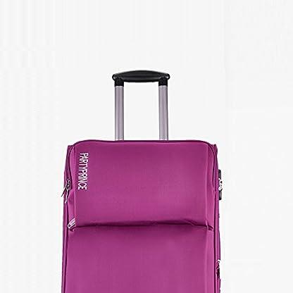 Equipaje de cabina blanda viaje Nailon ligera con 4 ruedas ABS+PC purpurina 363 púrpura Partyprince