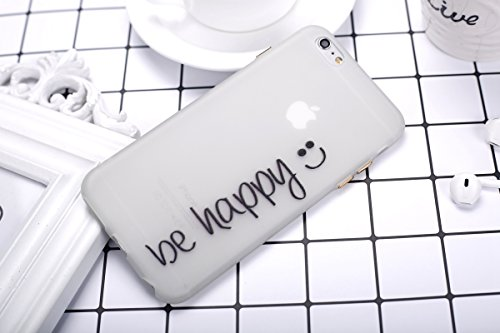 Felfy Coque Pour iPhone 6 Plus,iPhone 6S Plus Silicone Case Cover Ultra Mince Slim Silicone élégant Gel Translucide TPU Souple Motif Design Noctilucent TPU Case Slim Fit Protection Case Coque Bumper C BeHappy Case