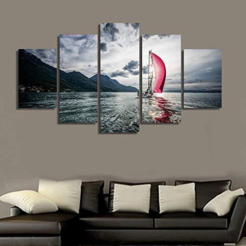 XIANRENGE 5 Panel Leinwand Malerei Meer Yachtcharter gebraucht kaufen  Wird an jeden Ort in Deutschland