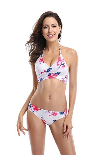 Koerse Damen Bikini-Set Gr. S, blumenmuster (Top Petite Halter Print)