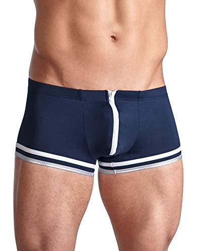 Svenjoyment Herren Pants - sexy Unterwäsche mit Reißverschluss für ihn, erotische Boxershorts im Matrosen-Look, blau