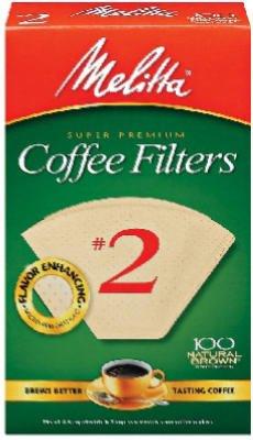 MELITTA 100-Count #2 Melitta Natural Brown Cone Coffee Filters