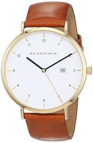Baldessarini Herren - Armbanduhr Edelstahl Analog Quarz Lederband 5 bar