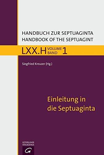 Handbuch zur Septuaginta - Band 1 von Benjamin Lange
