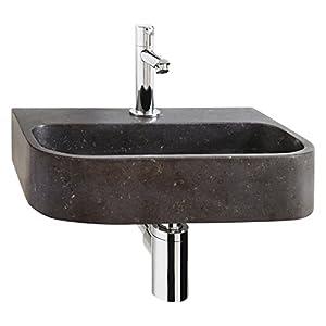 Differnz 38.015.01 – Pequeño Oval Lavarse las manos de piedra azul