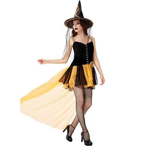 TIANFUSW Herrin Hexenkostüm Hexe Sexy Halloween Kostüm für Frauen, a, Large