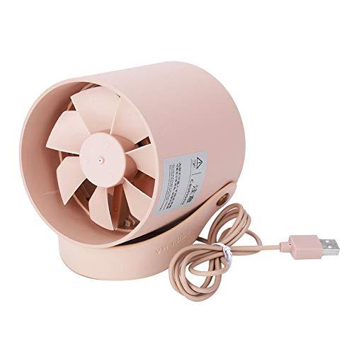 Asixx Mini Fan, Double Leaf Persönliche Schreibtisch Kinderwagen Tischventilator, Tragbare Mini Ruhige Smart Touch Fan Schreibtisch Tisch USB-Lade Lüfter(Coral) (Coral Tisch)