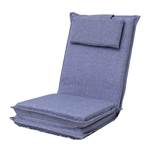 LRSFM Plancher Paresseux de canapé de Chaise de canapé de Salon de Plancher Se Pliant, Lits de Divan de Coussin de Plancher réglables pour Regarder la TV, Reste de midi, la Sieste (Couleur : Gray)