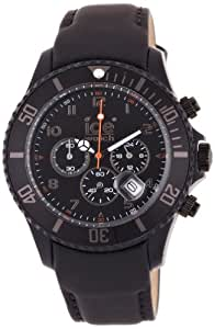 ice watch herren armbanduhr chronograph leder ch bk b l uhren. Black Bedroom Furniture Sets. Home Design Ideas
