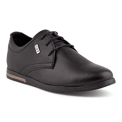 Fusskleidung Herren Business Schnürer Casual Halb Sneaker Schuhe Anzugschuhe Schwarz Schwarz EU 45 -