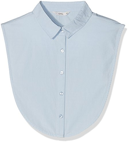 ONLY Damen Bluse Onlshelly Weaved Collar Acc Noos Blau (Cashmere Blue)