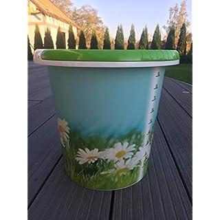 AGROHIT Eimer 10L Liter Kunststoff Putzeimer mit Skala Kamille/Obst und Gemuese (Kamille)