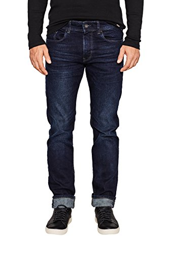 ESPRIT Herren Slim Jeans 087EE2B010 Blau (Blue Dark Wash 901), W32/L32 (Herstellergröße:32/32) (Slim Herren Dark Jeans Denim)
