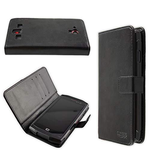 caseroxx Hülle/Tasche Bookstyle-Case Crosscall Trekker-X3 Handy-Tasche, Wallet-Case Klapptasche in schwarz