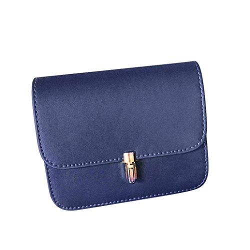 Pu Borsa, Moda Donna Spalla Borsa Catena Strap Messenger Borse Fibbia In Metallo by Kangrunmy Profondo blu