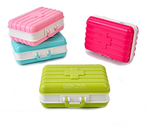 vepson Suitcase Shaped Mini Pill Box Medicine Travel Container