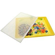 VANKER Los granos de uñas Puzzle bricolaje Vanker 296Pcs creativo 3D Color 7 Flashboard Test Juego de Desarrollo(color al azar)