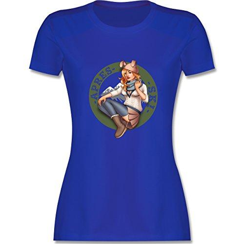 Après Ski - Apres Ski Pin-up - tailliertes Premium T-Shirt mit Rundhalsausschnitt für Damen Royalblau