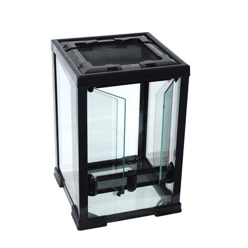 Aquarium-Plüderhausen Glas-Terrarium 30x30x45 cm für Reptilien, Amphibien, Tropische Pflanzen usw.
