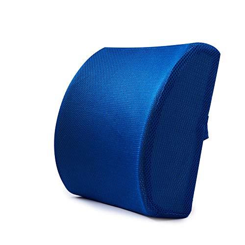 AUMING Orthopädisches Rücken-Kissen Lordosenstütze Kissen Rückenkissen Memory Foam Orthopädische Rückenlehne Für Autositz Büro Computer Stuhl (Farbe : Navy blau) - Navy Stuhl Computer