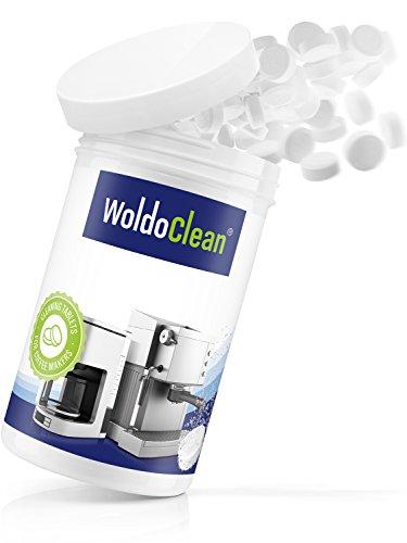 WoldoClean 150x Reinigungstabletten für Kaffeevollautomaten und Kaffeemaschinen Reinigungstabs Kaffeefettlöser