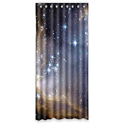 """De lujo DOUBEE Galaxy cielo estrellado apagón cortina decoración de la habitación de matrimonio 127 x 274,32 cm (1 pieza 800), poliuretano, E, 50""""x108"""""""