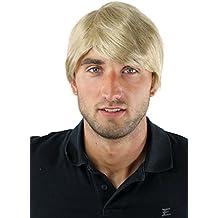 WIG ME UP ® - Peluca masculina, para hombres, corto, juvenil, informal, moderno, rubio GFW-964-24 Wig
