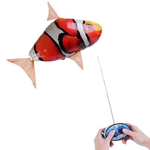 (Fernbedienung RC aufblasbar Ballon Air Schwimmer Flying Nemo Clown Fisch Blimp)