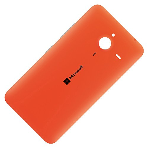 Microsoft Lumia 640 XL LTE Original Akkudeckel Orange Akkufachdeckel Backcover Rückschale Akku Batterie Battery Back Rück Rear Cover Gehäuse Schale Deckel Klappe Housing Lid