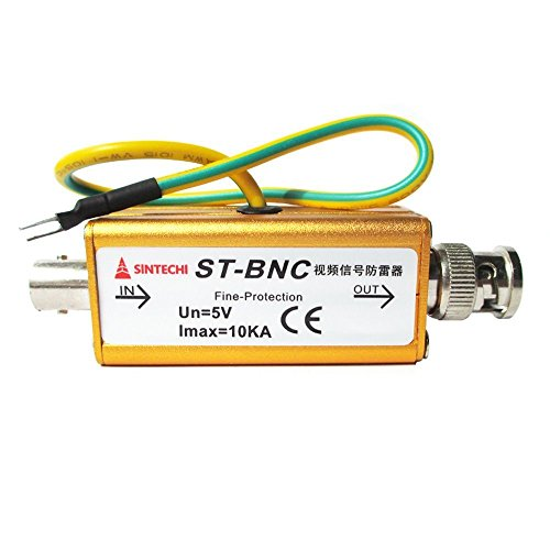 BNC Coax Coaxial Cable CCTV Monitoring Security Camera Monitor Surge Protector Thunder Lightning Arrester Protection Device - Coax Surge Protector