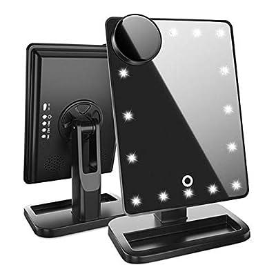 Majome 20 LED-Schminkspiegelleuchte Bluetooth 10X Vergrößerungs-USB-Ladeleuchten