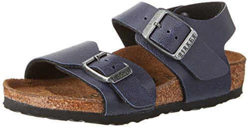 Birkenstock Kids Unisex-Kinder New York Riemchensandalen, Blau (Pull Up Navy), 36 EU