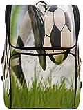 Zaino per computer Zaini per la scuola Viaggi Laptop Casual Daypack Zaino Calciatore personalizzato Calci pallone da calcio in movimento per studenti Ragazze Ragazzi Donna Uomini