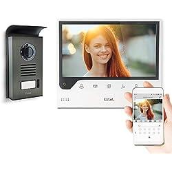Extel - Visiophone Connect - avec Grand Écran (18cm) et Connecté à votre Smartphone Android ou Apple