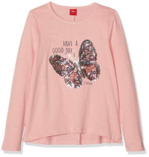s.Oliver Mädchen 53.908.31.8753 T-Shirt, Rosa (Light Pink 4273), 116 (Herstellergröße: 116/122/REG) -